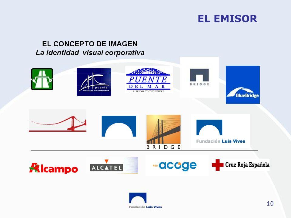 10 EL EMISOR EL CONCEPTO DE IMAGEN La identidad visual corporativa