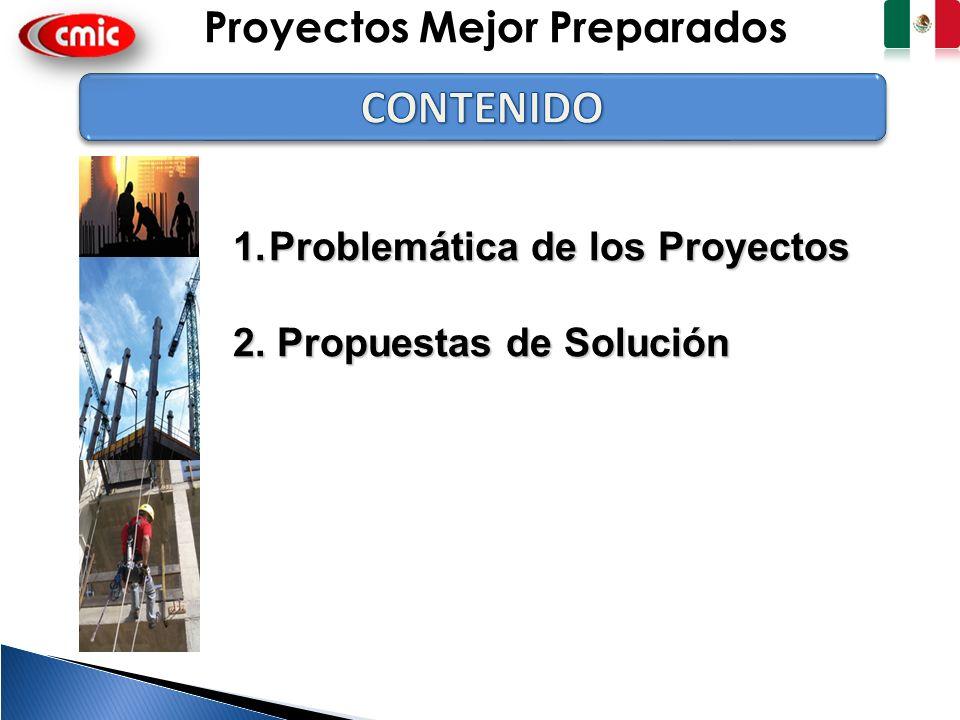 2 1.Problemática de los Proyectos 2. Propuestas de Solución Proyectos Mejor Preparados
