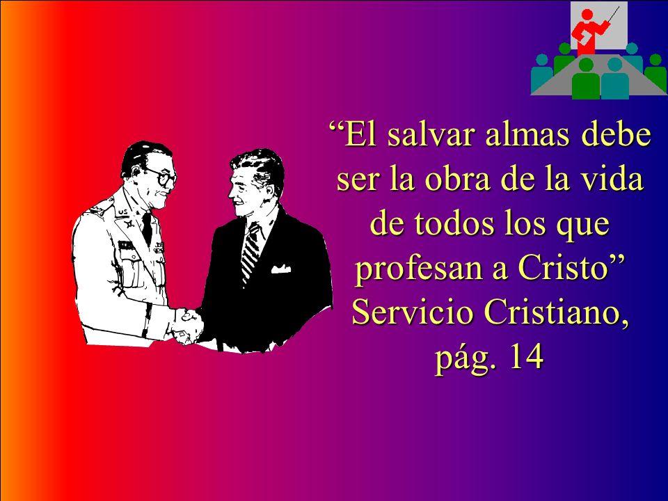 Una persona nueva en la fe, tiene que ser integrada al trabajo misionero, a más tardar el día en que se bautiza, lo ideal es que antes de su bautismo