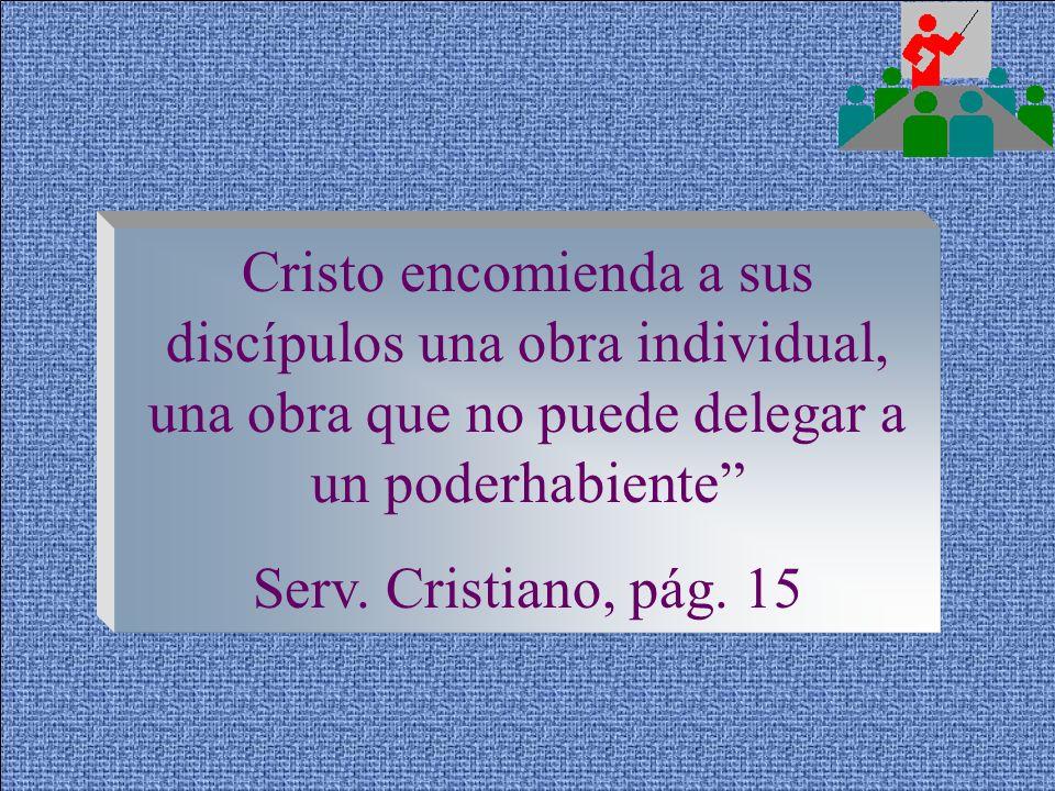El salvar almas debe ser la obra de la vida de todos los que profesan a Cristo Servicio Cristiano, pág. 14