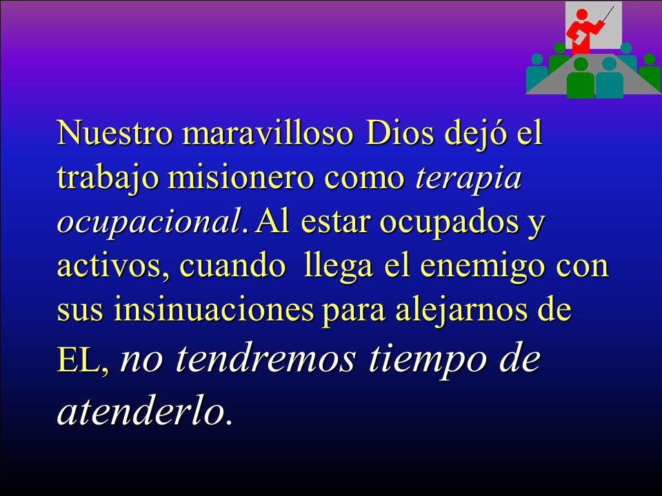 El Señor NO dejó el trabajo misionero como una obligación, nadie está obligado a hacerlo. Tampoco lo dejó como una opción, no es asunto que si quiero