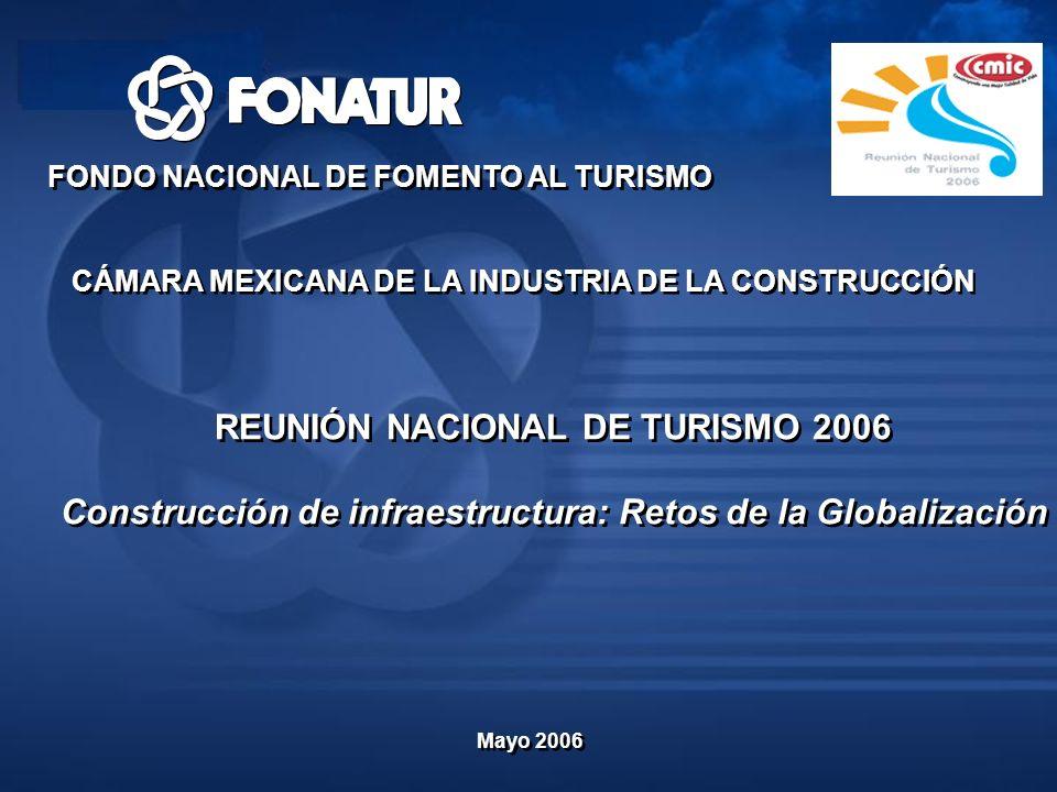 REUNIÓN NACIONAL DE TURISMO 2006 Construcción de infraestructura: Retos de la Globalización REUNIÓN NACIONAL DE TURISMO 2006 Construcción de infraestr