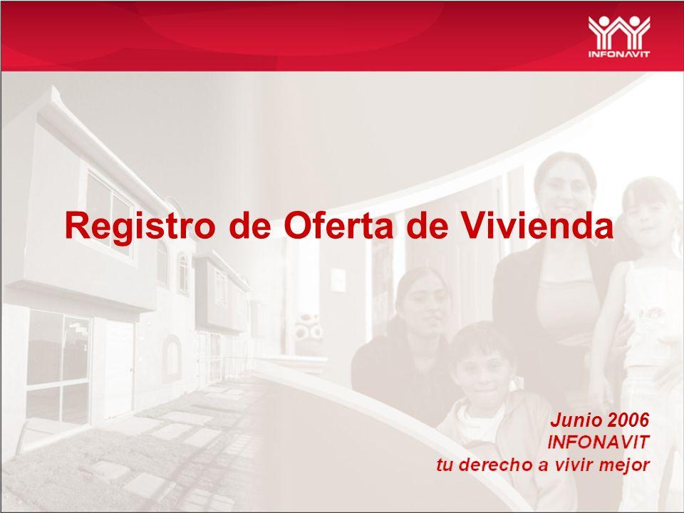 Registro de Oferta de Vivienda Junio 2006