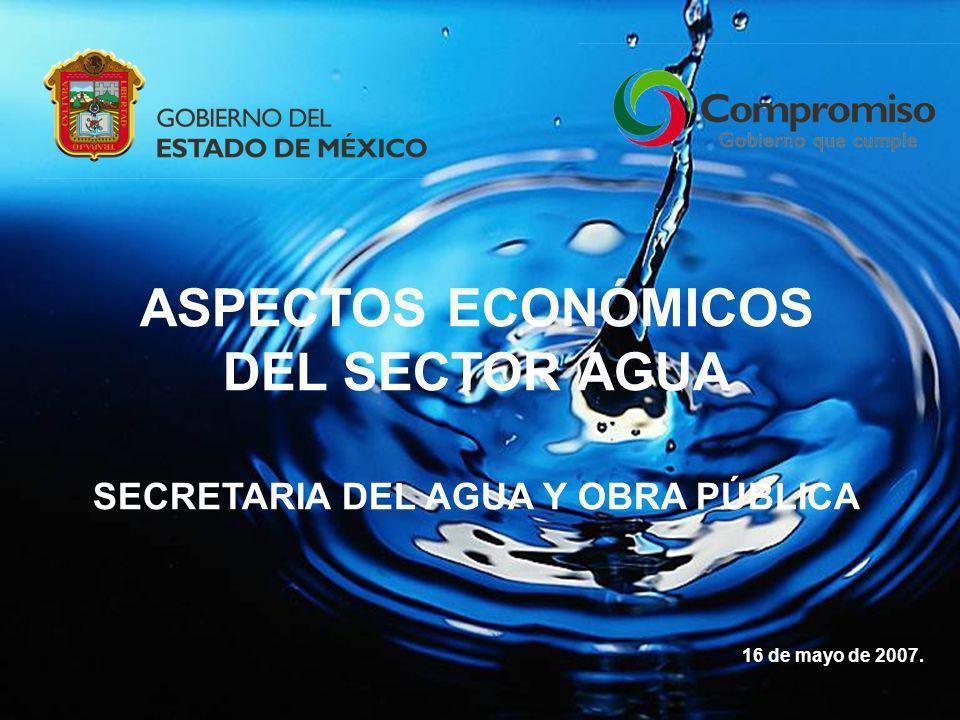 ASPECTOS ECONÓMICOS DEL SECTOR AGUA SECRETARIA DEL AGUA Y OBRA PÚBLICA 16 de mayo de 2007.