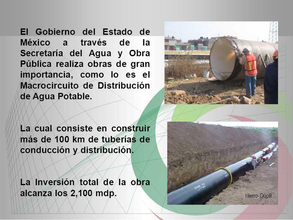 El Gobierno del Estado de México a través de la Secretaría del Agua y Obra Pública realiza obras de gran importancia, como lo es el Macrocircuito de D
