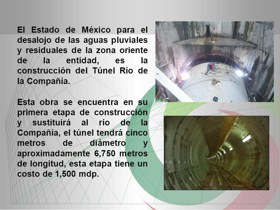 El Estado de México para el desalojo de las aguas pluviales y residuales de la zona oriente de la entidad, es la construcción del Túnel Río de la Comp