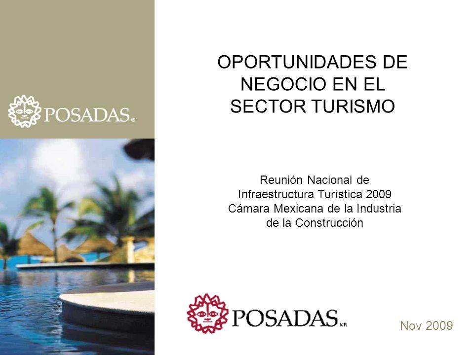 Nov 2009 OPORTUNIDADES DE NEGOCIO EN EL SECTOR TURISMO Reunión Nacional de Infraestructura Turística 2009 Cámara Mexicana de la Industria de la Construcción