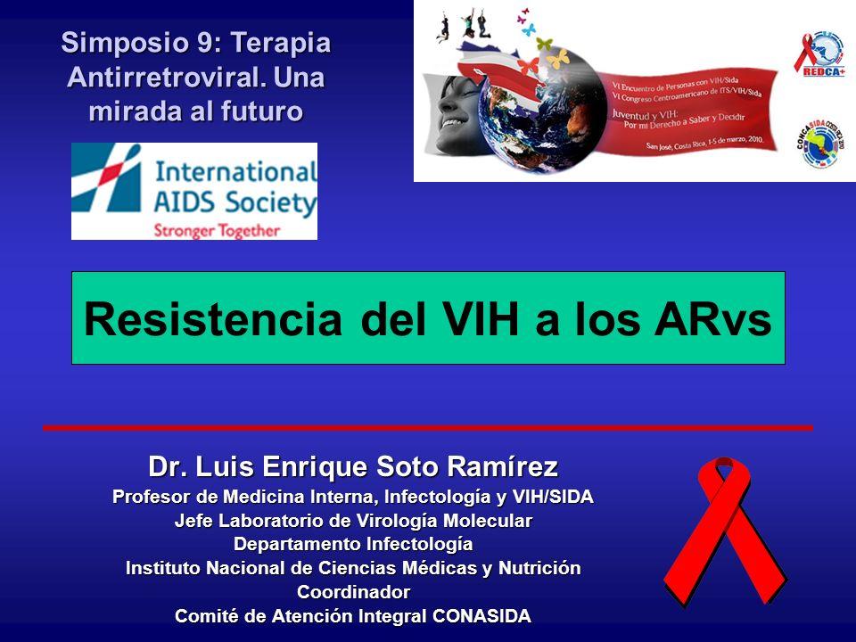 Resistencia: - Disminución de la susceptibilidad de un virus a un medicamento - - Resistencia fenotípica - - Resistencia genotípica - - Resistencia primaria - - Resistencia secundaria - - Resistencia cruzada Resistencia a ARV: Definiciones