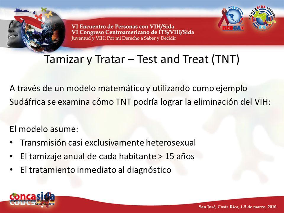 Tamizar y Tratar – Test and Treat (TNT) A través de un modelo matemático y utilizando como ejemplo Sudáfrica se examina cómo TNT podría lograr la elim