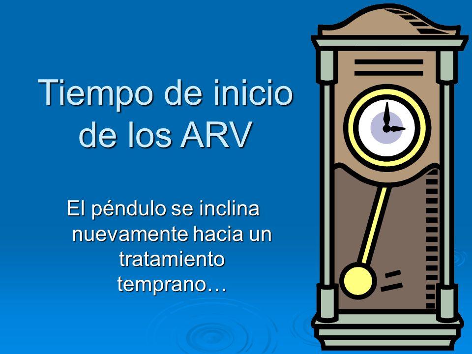 Tiempo de inicio de los ARV El péndulo se inclina nuevamente hacia un tratamiento temprano…