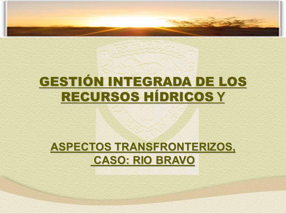 GESTIÓN INTEGRADA DE LOS RECURSOS HÍDRICOS Y ASPECTOS TRANSFRONTERIZOS, CASO: RIO BRAVO CASO: RIO BRAVO