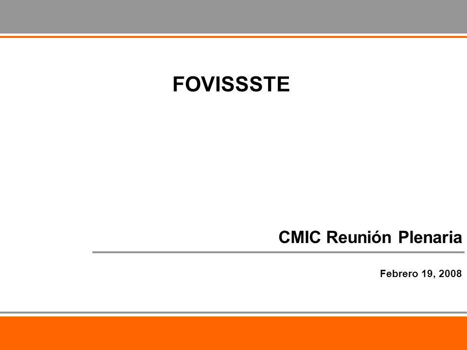 CMIC Reunión Plenaria Febrero 19, 2008 FOVISSSTE