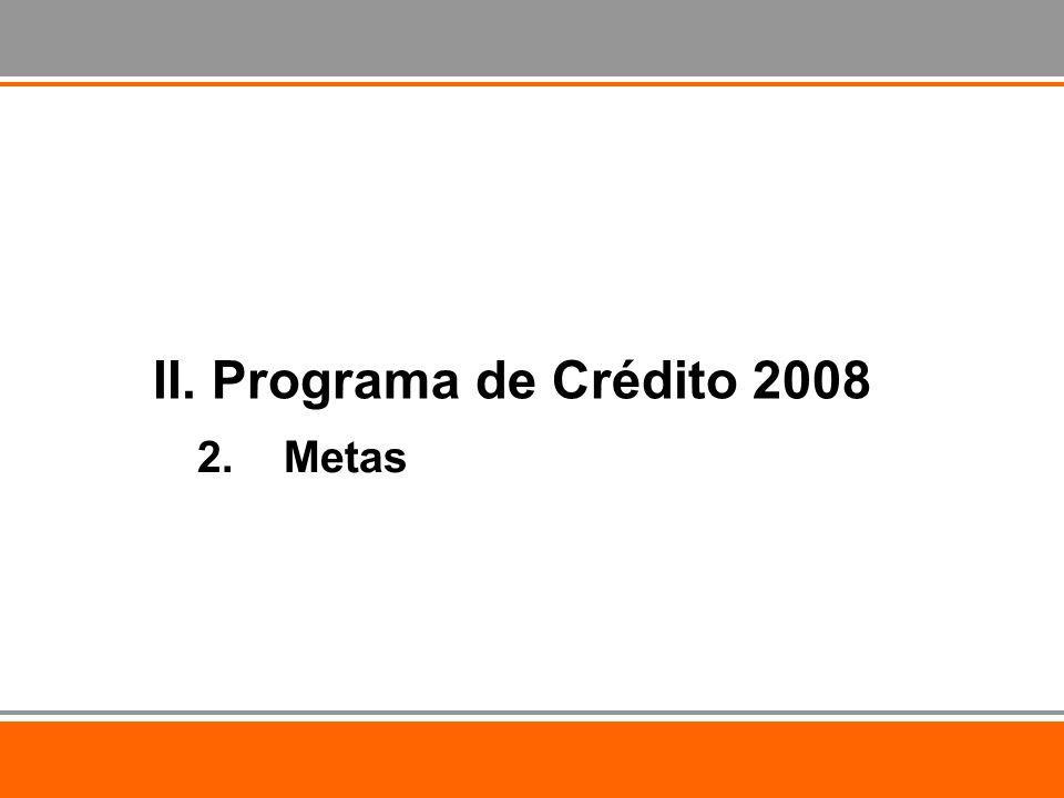 2.Metas II. Programa de Crédito 2008