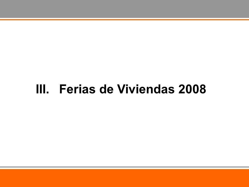 III.Ferias de Viviendas 2008