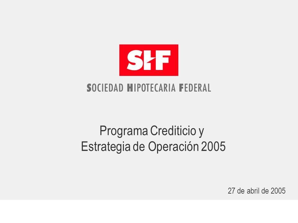 Programa Crediticio y Estrategia de Operación 2005 27 de abril de 2005
