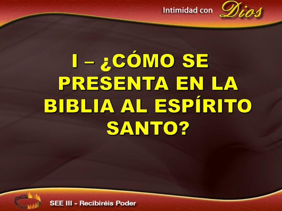 La Biblia presenta al Espíritu Santo como uno de los tres miembros de la Trinidad, como una persona y con una personalidad distinta.