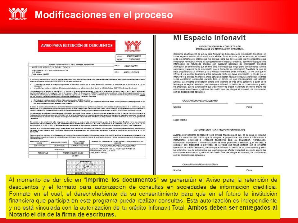 Al momento de dar clic en Imprime los documentos se generarán el Aviso para la retención de descuentos y el formato para autorización de consultas en