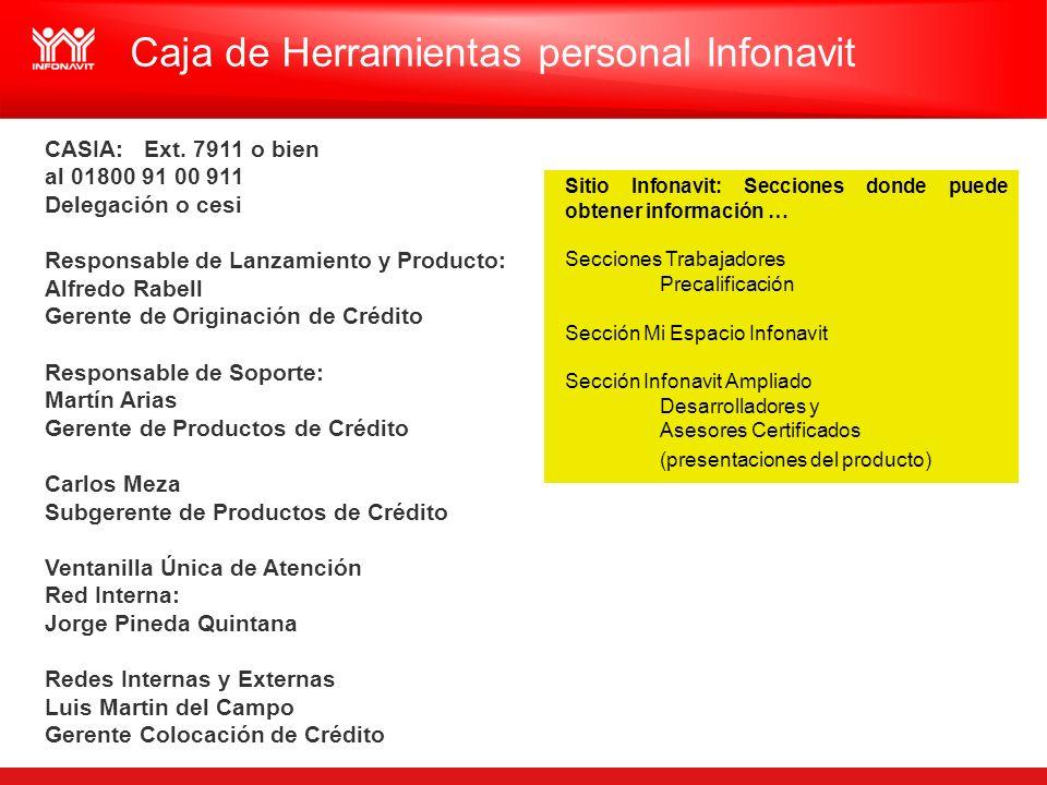 Caja de Herramientas personal Infonavit Sitio Infonavit: Secciones donde puede obtener información … Secciones Trabajadores Precalificación Sección Mi