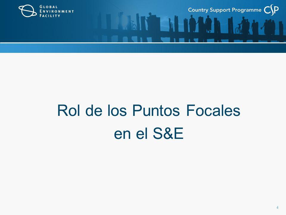 5 Rol del Punto Focal del FMAM en el M&E Rol depende de las circunstancias específicas de cada país...