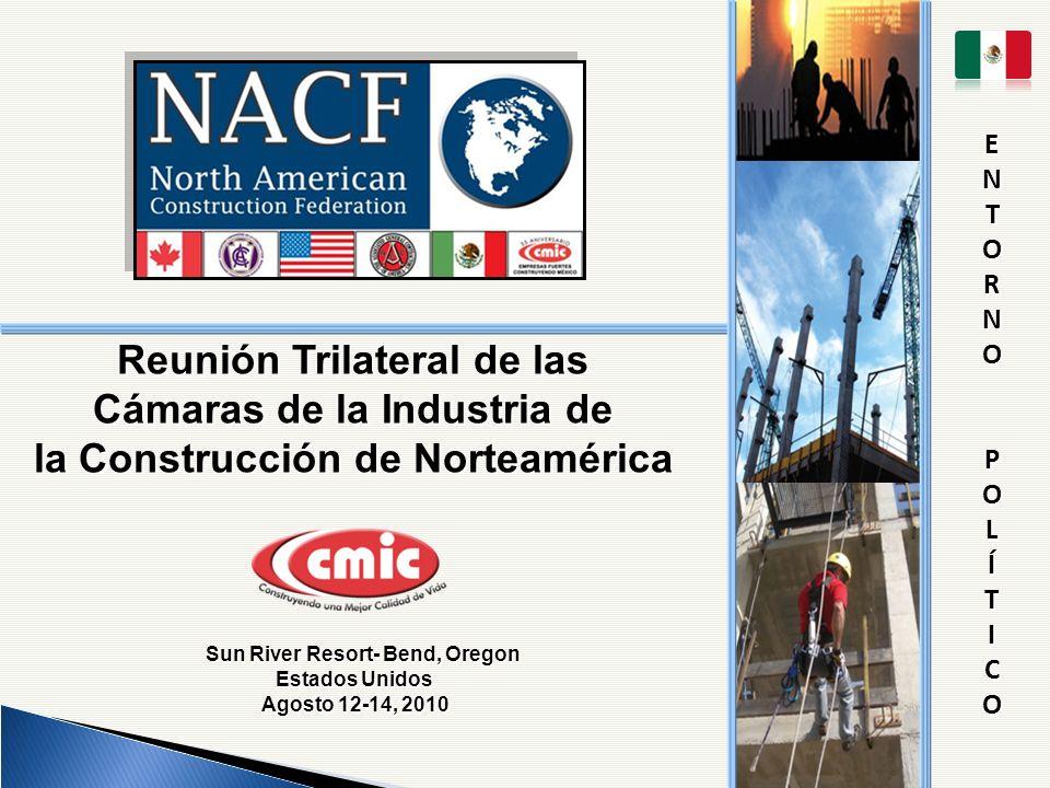Reunión Trilateral de las Cámaras de la Industria de la Construcción de Norteamérica Sun River Resort- Bend, Oregon Estados Unidos Sun River Resort- B