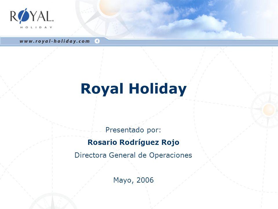1. Royal Holiday Club 2. Demográficos 3. Experiencia Vacacional 4. Producto Contenido
