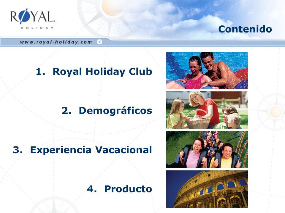 Qué es Royal Holiday Club vacacional con 60,000 socios en 52 países Más de 20 años de experiencia en la industria Más de 160 destinos de playa y de ciudad Sistema mixto de semanas y puntos Ventajas competitivas: Flexibilidad y variedad de opciones de viaje 1.