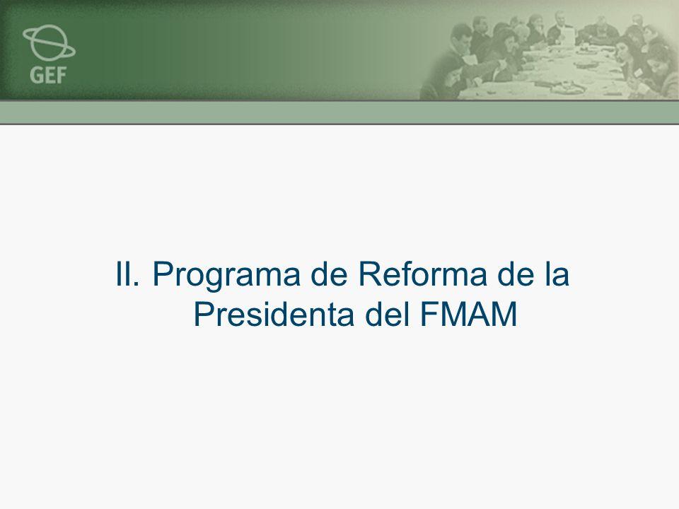 II. Programa de Reforma de la Presidenta del FMAM