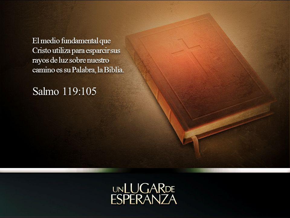 El medio fundamental que Cristo utiliza para esparcir sus rayos de luz sobre nuestro camino es su Palabra, la Biblia. Salmo 119:105 El medio fundament