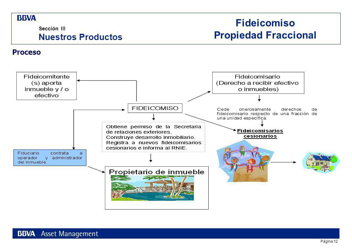 Página 11 La propiedad fraccional corresponde a una típica operación inmobiliaria en la que a través del Fideicomiso Traslativo de Dominio existen div