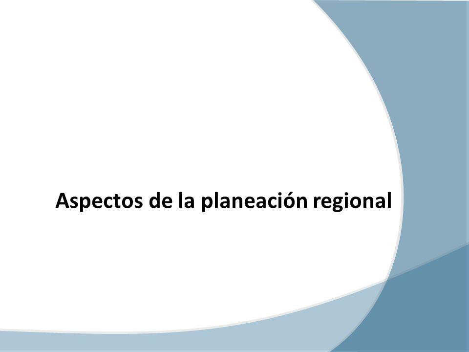 Aspectos de la planeación regional