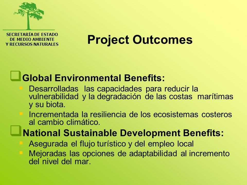 SECRETARÍA DE ESTADO DE MEDIO AMBIENTE Y RECURSOS NATURALES Project Outcomes Global Environmental Benefits: Disminución de gases de efecto invernadero.
