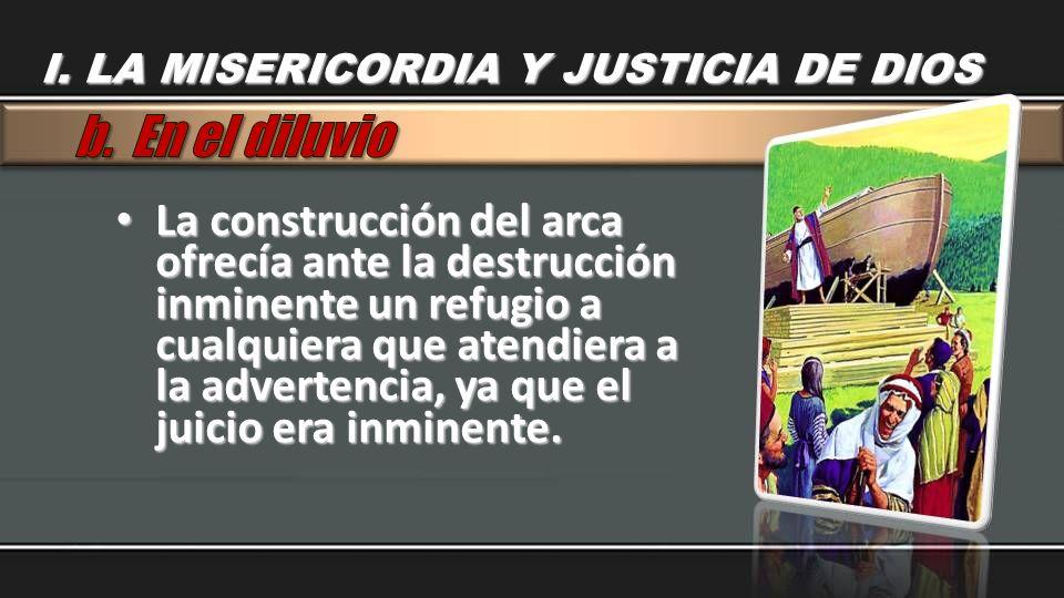 La construcción del arca ofrecía ante la destrucción inminente un refugio a cualquiera que atendiera a la advertencia, ya que el juicio era inminente.