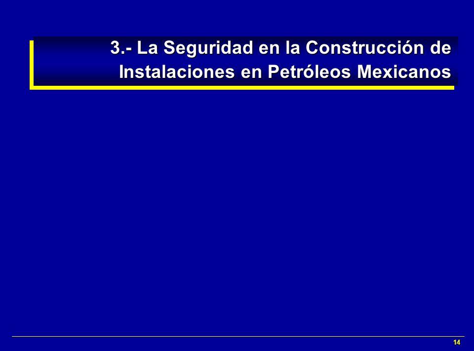 14 3.- La Seguridad en la Construcción de Instalaciones en Petróleos Mexicanos