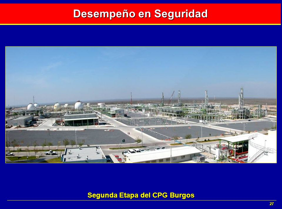 27 Desempeño en Seguridad Segunda Etapa del CPG Burgos