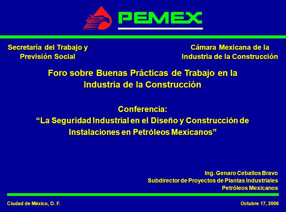 Ciudad de México, D. F. Octubre 17, 2006 Secretaría del Trabajo y Previsión Social Cámara Mexicana de la Industria de la Construcción Foro sobre Buena