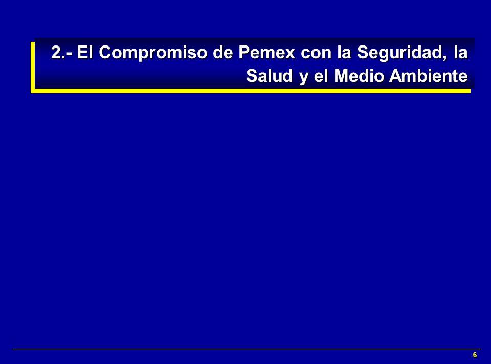 6 2.- El Compromiso de Pemex con la Seguridad, la Salud y el Medio Ambiente