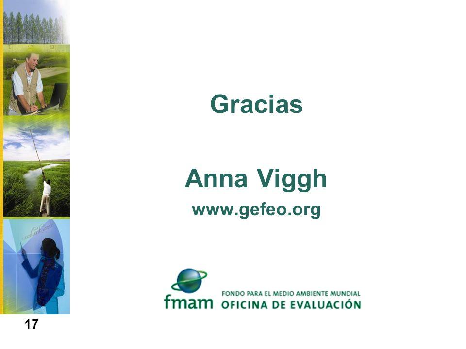 Gracias Anna Viggh www.gefeo.org 17