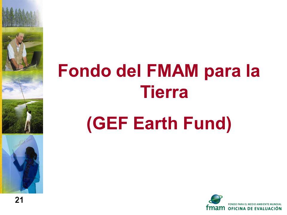 Fondo del FMAM para la Tierra (GEF Earth Fund) 21