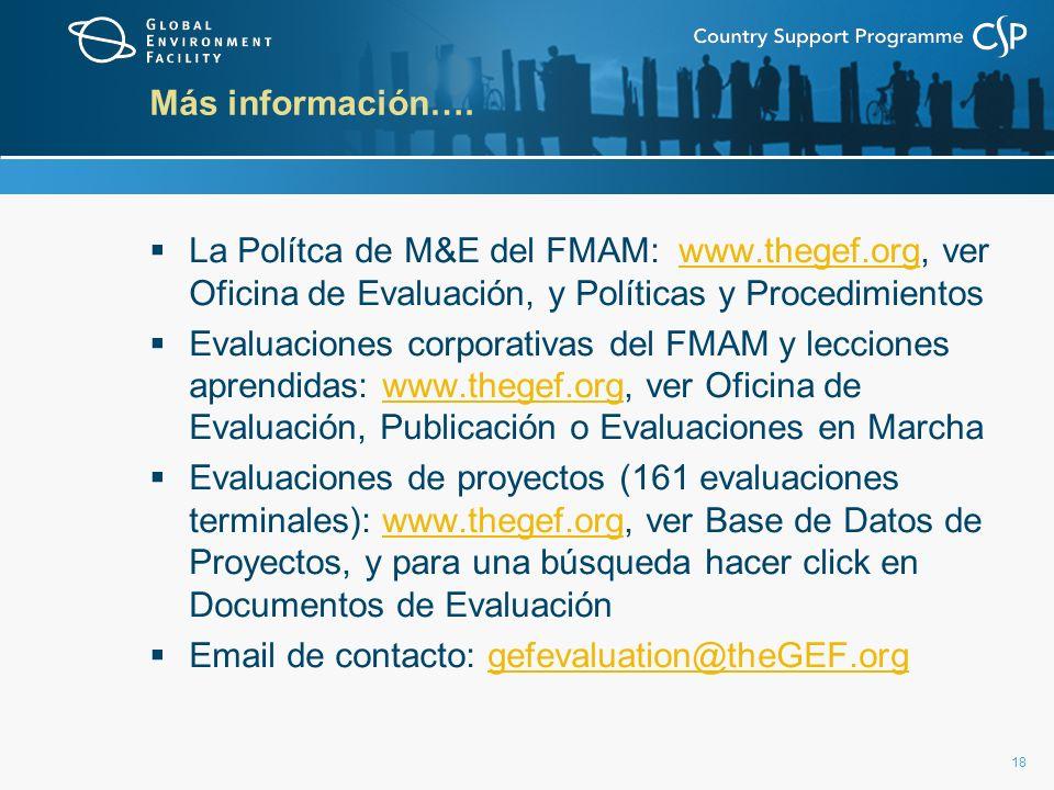 18 Más información….