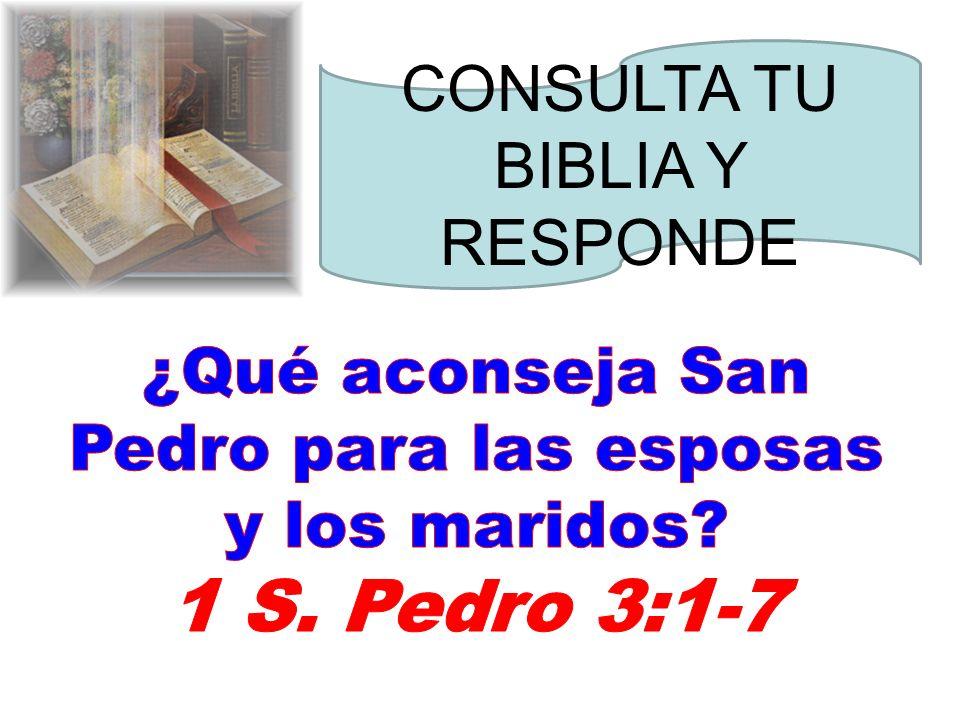 CONSULTA TU BIBLIA Y RESPONDE
