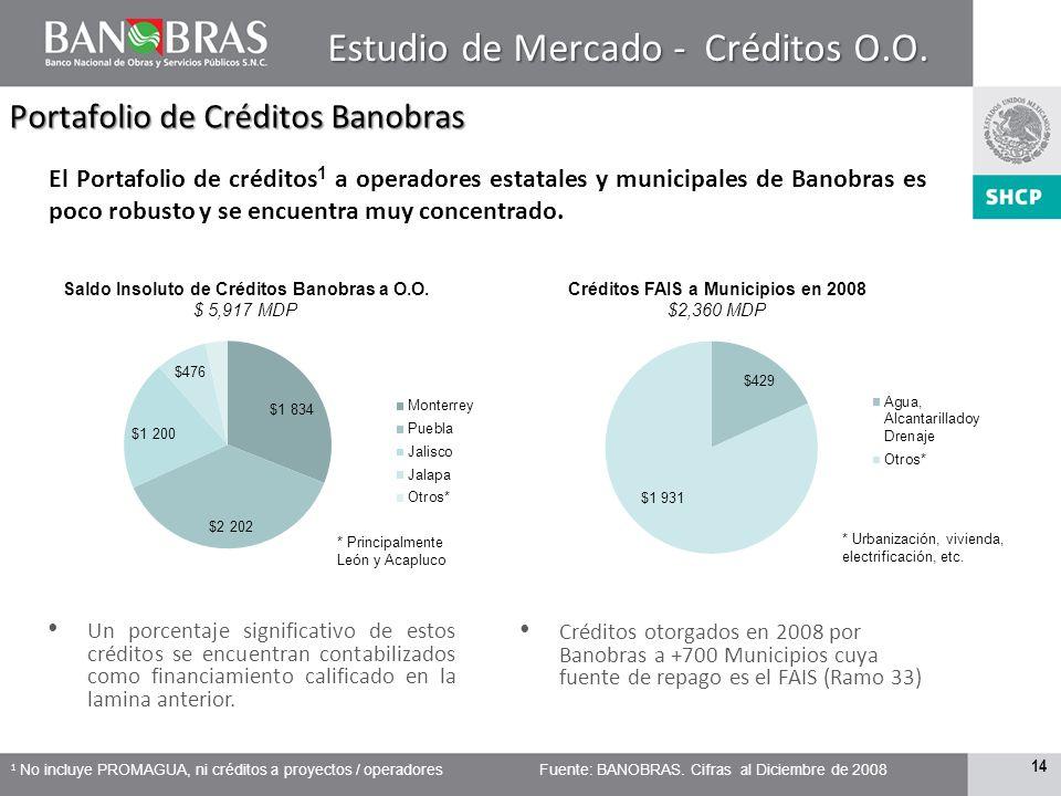 13 Financiamiento Subsoberano Saldo Insoluto del FSC 1 en México $99,850 MDP El Total de la deuda sub soberana reportada por SHCP a Junio de 2009 asci
