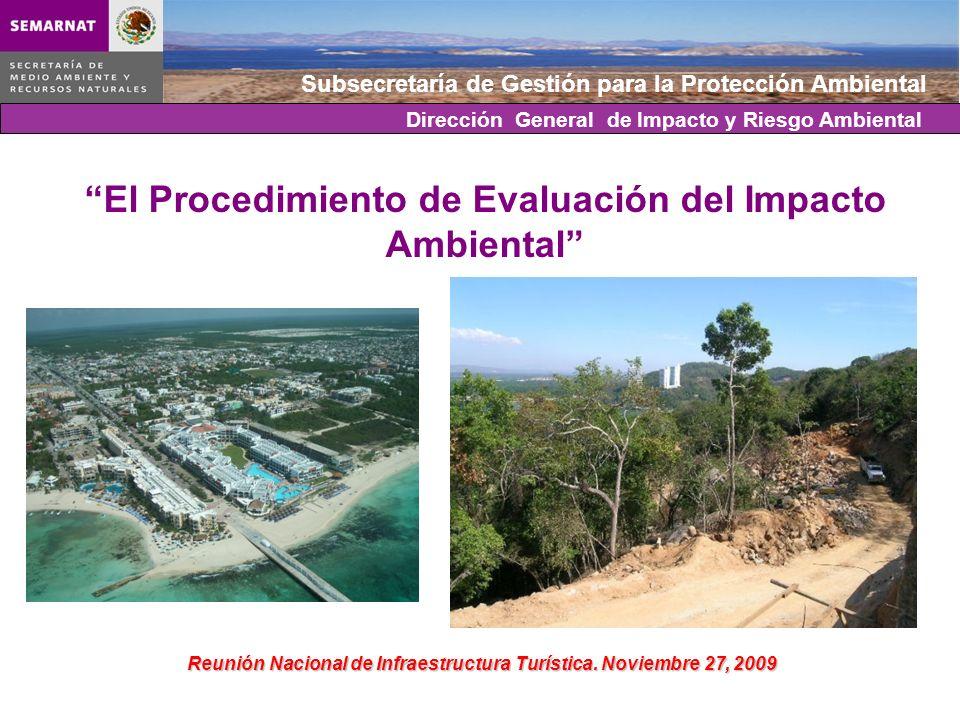 Subsecretaría de Gestión para la Protección Ambiental Dirección General de Impacto y Riesgo Ambiental El Procedimiento de Evaluación del Impacto Ambie