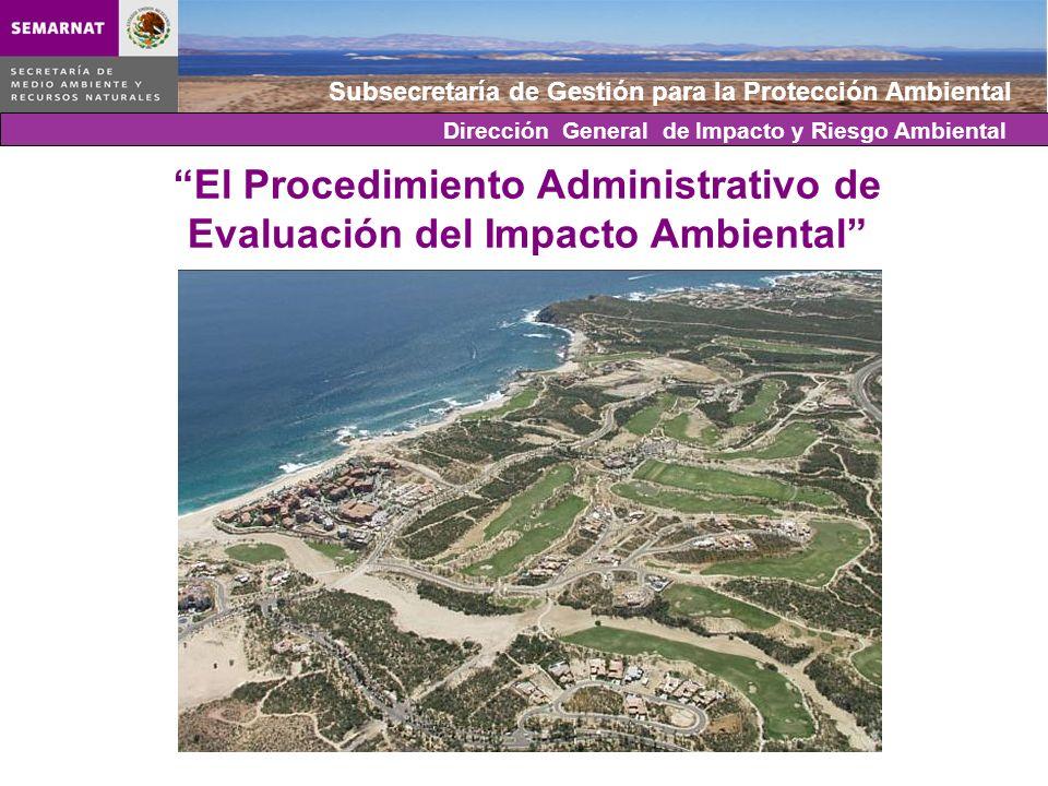 Subsecretaría de Gestión para la Protección Ambiental El Procedimiento Administrativo de Evaluación del Impacto Ambiental Dirección General de Impacto