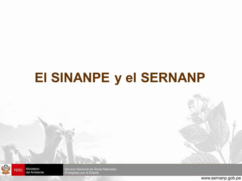 El SINANPE y el SERNANP
