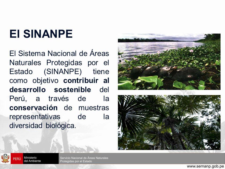 El SINANPE El Sistema Nacional de Áreas Naturales Protegidas por el Estado (SINANPE) tiene como objetivo contribuir al desarrollo sostenible del Perú,