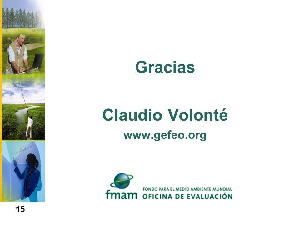 Gracias Claudio Volonté www.gefeo.org 15