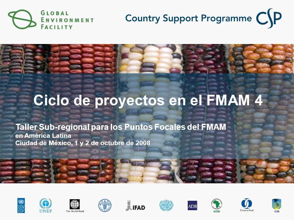 Click to edit Master title style Click to edit Master subtitle style Ciclo de proyectos en el FMAM 4 Taller Sub-regional para los Puntos Focales del FMAM en América Latina Ciudad de México, 1 y 2 de octubre de 2008