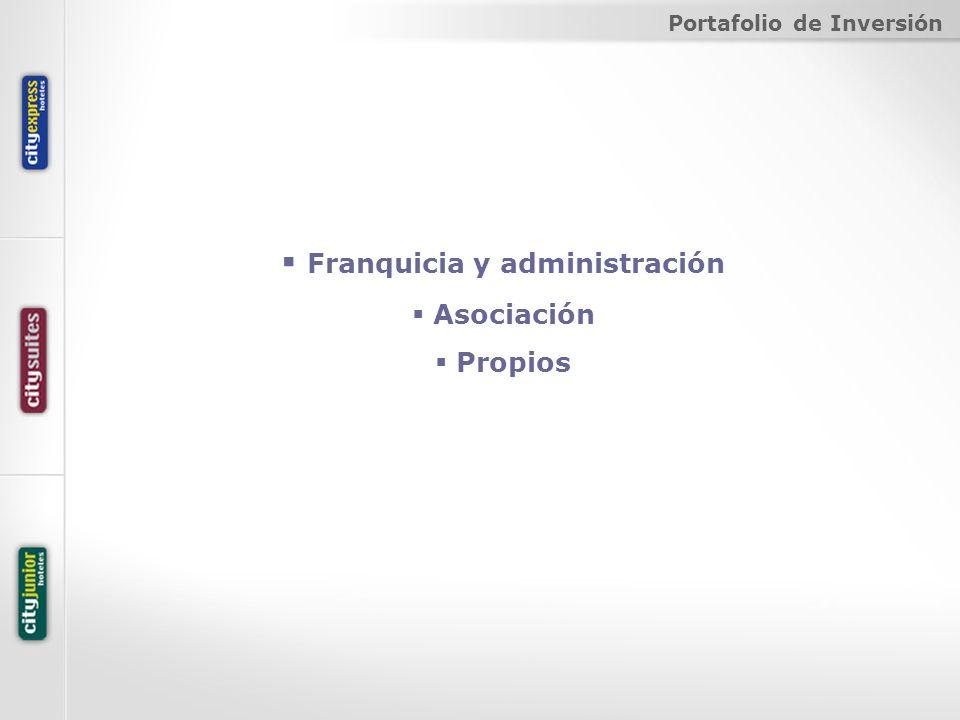 Franquicia y administración Asociación Propios Portafolio de Inversión