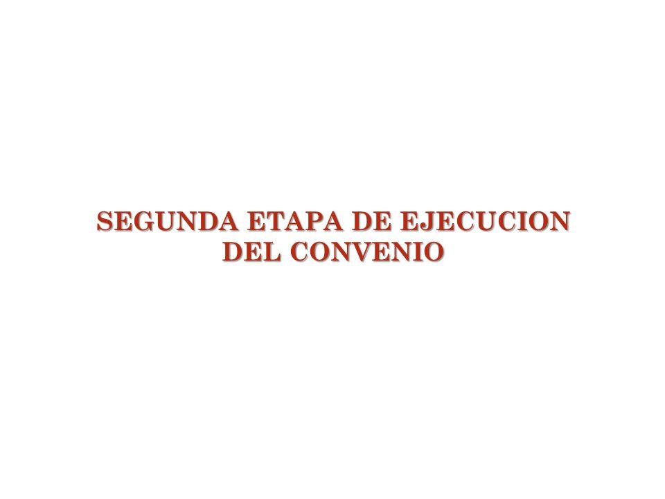 SEGUNDA ETAPA DE EJECUCION DEL CONVENIO