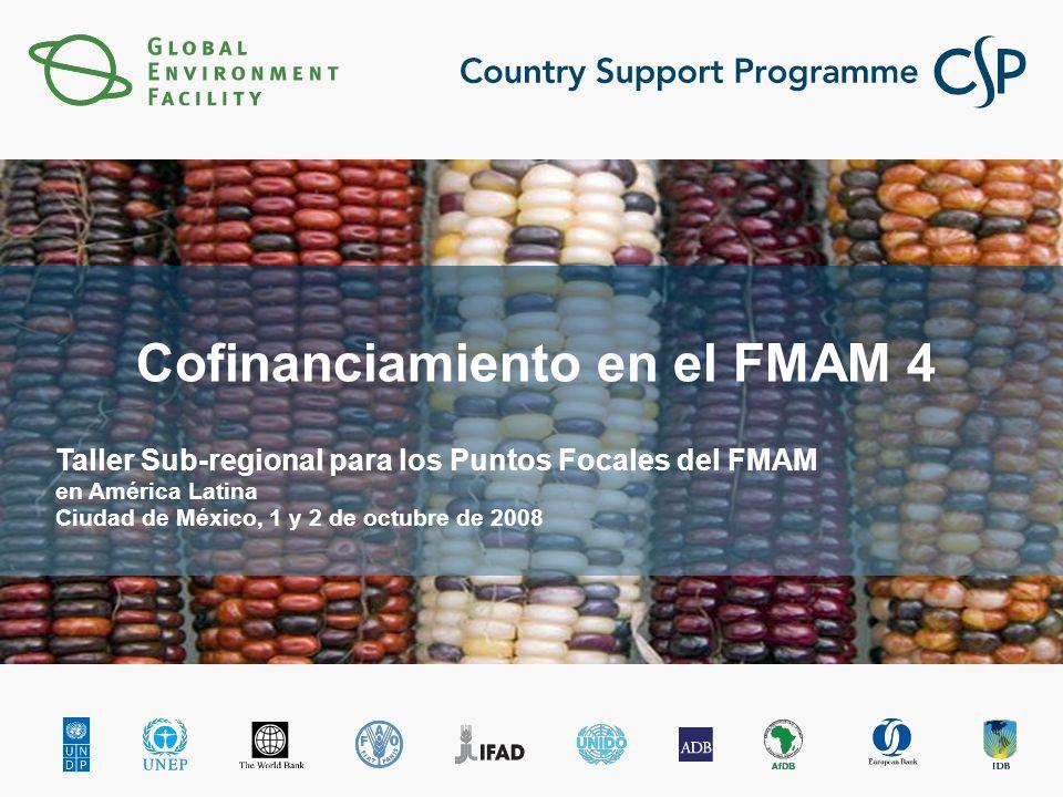 Click to edit Master title style Click to edit Master subtitle style Cofinanciamiento en el FMAM 4 Taller Sub-regional para los Puntos Focales del FMAM en América Latina Ciudad de México, 1 y 2 de octubre de 2008